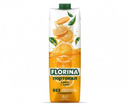 Натурален сок портокал Флорина 1л.