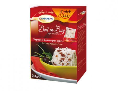 ОРИЗ и ЧЕРВЕНА КИНОА Boil in bag 250g