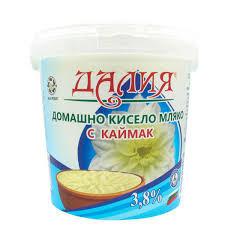 Домашно кисело мляко с каймак Далия 3,8% 990г.