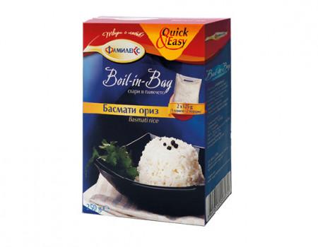 Ориз БАСМАТИ Boil In Bag 250g -кутия