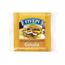 Топено сирене с Гауда Fivepi 120г.слайс