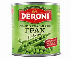 Canned sweet peas 400gr.