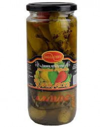 Grilled marinated hot peppers and grapes 680gr.