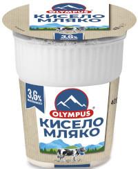 Кисело мляко Олимпус 3,6% 400гр.