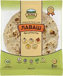 Хляб Лаваш 30см. 5бр. 250гр.
