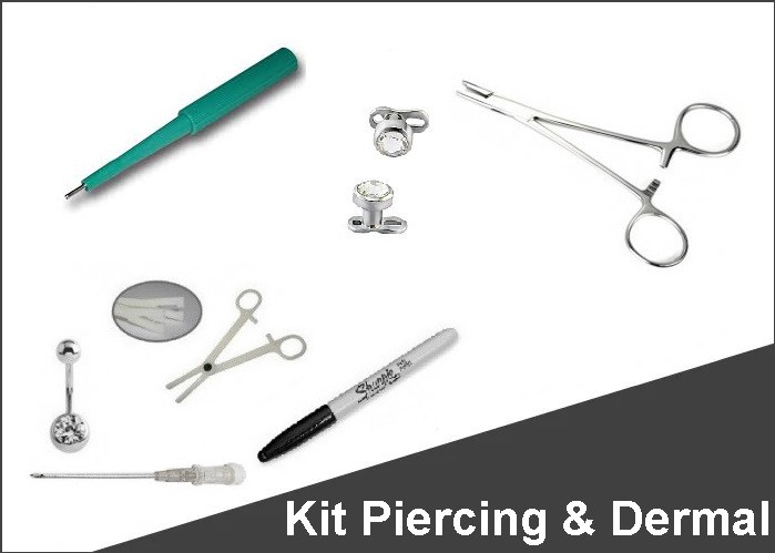 Kit Piercing e Dermal