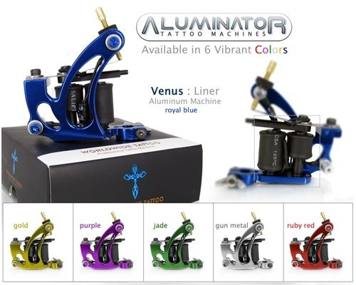 Tattoo machine series tattoo liner shader 2 in uno colore for Tattoo machine online shopping in india