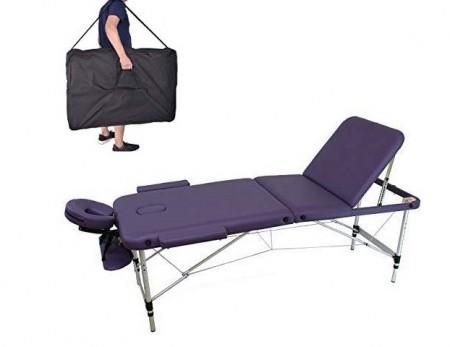 Lettino Massaggio 3 Zone Leggero Colore Lilla