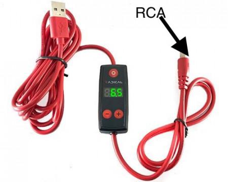 Nuovo Mini Alimentatore Cavo RCA (collegalo a qualsiasi ingresso USB)