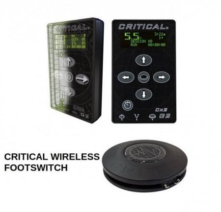 Critical Tattoo - Power Supply CX2 - G2 + CRITICAL WIRELESS FOOTSWITCH