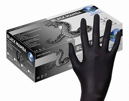 Unigloves Guanti In Lattice Black Mamba 100 pezzi Taglia XL