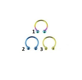 Circular Barbell In Titanio Multicolor 1,2ø, 10mm