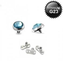 Titanium Dermal Light Blue 3mm