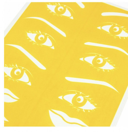 ARTIFICIAL SKIN FOR PRACTICE - EYEBROWS & EYES (YELLOW)