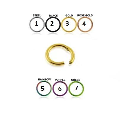 Circular Clicker Gold 0.8ø X 10mm