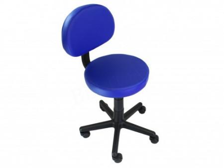 Sgabello con schienale colore Blu