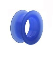 Tunnel in silicone Blu 12mm