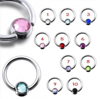 Ball Closure Ring Brillantino Rosa 1,2ø, 8mm