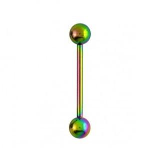 Barbell In Titanio Multicolor 1,2ø, 12mm Pallina 3mm