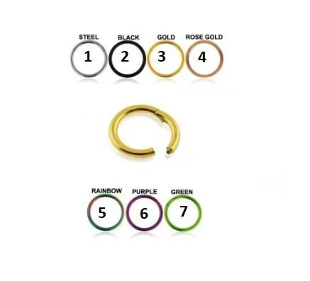Circular Clicker Rose Gold 1,2ø, 10mm
