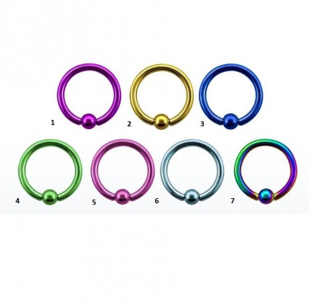 Circular Ball Closure In Titanio Multicolor 1,2ø, 10mm