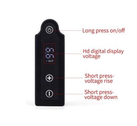 X2 Alimentatori a batteria Senza Fili Portatile Attacco RCA
