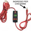 Mini Alimentatore a Cavo Ingresso Per Cheyenne (collegalo ad un qualsiasi ingresso USB)