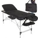 Lettino Massaggio 3 Zone Leggero Colore Nero