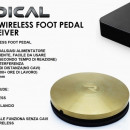 NEW RADICAL WIRELESS FOOT PEDAL COLORE GOLD
