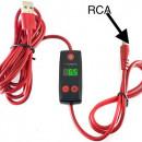 Nuovo Mini Alimentatore Cavo RCA(collegalo a qualsiasi ingresso USB)