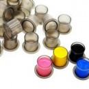 Cup con la base piatta colore nero trasparente  ¢12mm (250 pz)