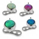 Dermal Completo con Opale Verde 4mm