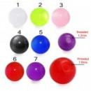 Pallina UV Colore1 1,6ø ; 8mm