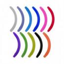 Banana curva Bianca/trasparente UV Flessibile 1.6ø 12MM