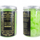 Cup In Silicone Verde fluo 100 Pz