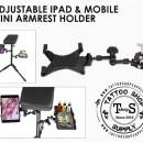 Supporto per Ipad max 22cm base porta oggetti 30x15cm