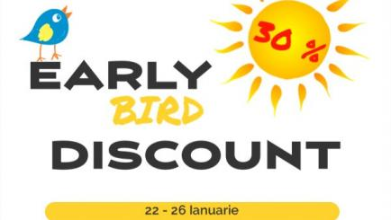 30% discount Early Bird