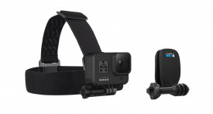 GoPro Head Strap + QuickClip suport pt cap + clema rapida