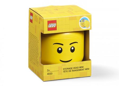 Mini cutie depozitare cap minifigurina LEGO baiat