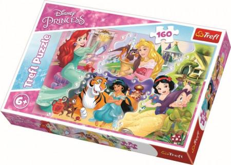 Puzzle Trefl, Disney Princess, Printese cu prieteni, 160 piese