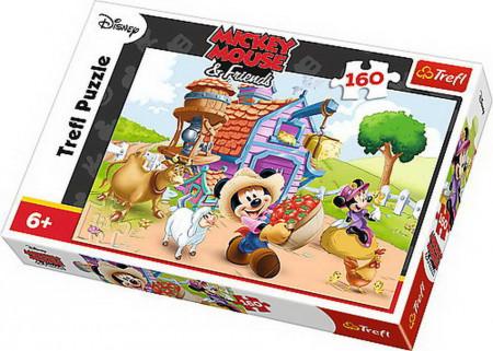 Puzzle Trefl Mickey the farmer, 160 piese
