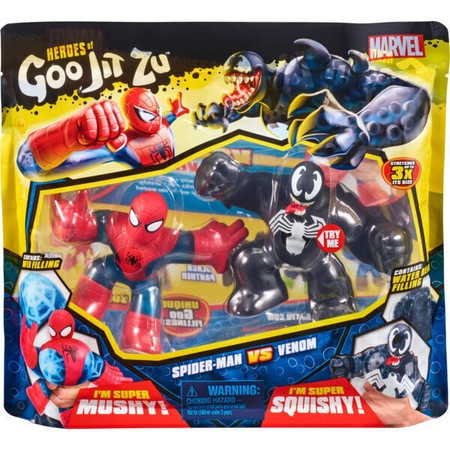 Set 2 figurine Goo Jit Zu Spiderman vs Venom