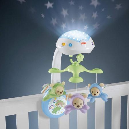 Fisher-Price: Carusel cu proiecţie Butterfly Dreams 3-în-1