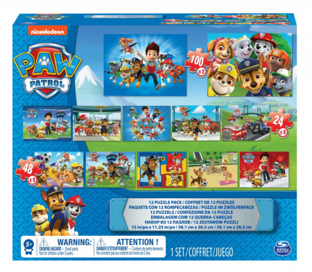 Set Puzzle Spin Master,Paw Patrol 12 in 1