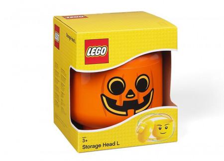 Cutie depozitare L cap minifigurina LEGO - Dovleac