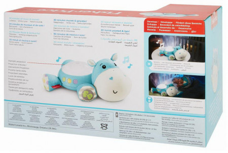 Fisher-Price: Proiector hipopotam, moale