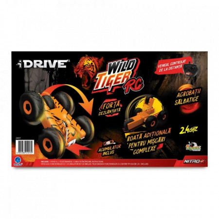 Masinuta cu Telecomanda I Drive-Wild Tiger RC,Portocaliu