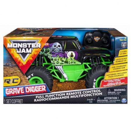 Masinuta Monster Jam RC - Grave Digger, scara 1:15