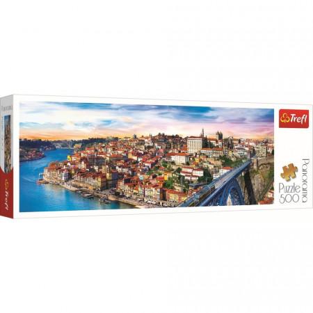Puzzle Trefl, Panorama Porto Portugalia, 500 piese