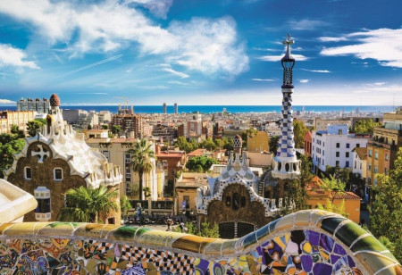 Puzzle Trefl, Park Barcelona, 1500 piese